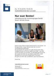 """""""Nur euer Bestes"""" - Jahreslesung der Autorengruppe Band 2"""